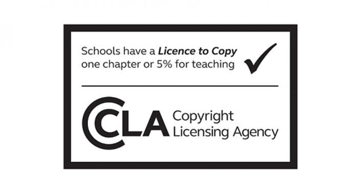 Image of the CLA Licence to Copy book sticker